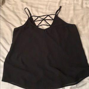 black spaghetti strap top